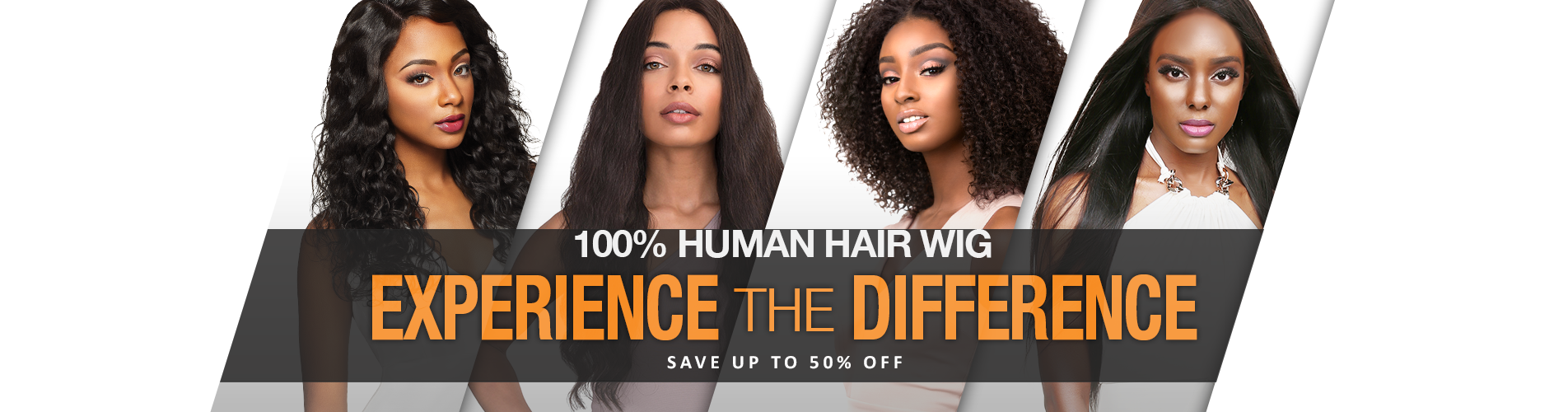 EXPERIENCE the DIFFERENCE! - 100% HUMAN HAIR WIGS