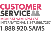 Customer Service 1.888.920.SAMS