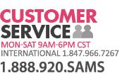 Customer Service 1.888.920.SAMS