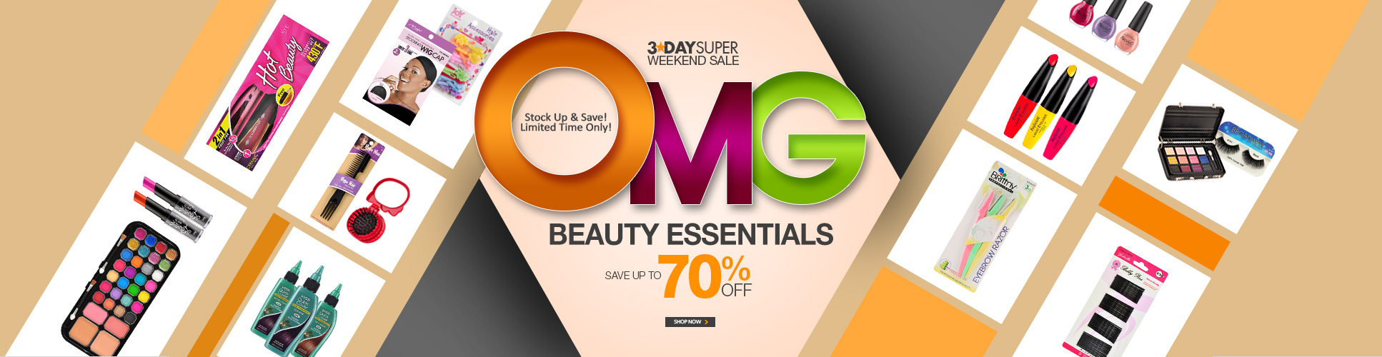 3-DAY OMG SALE! - BEAUTY ESSENTIALS