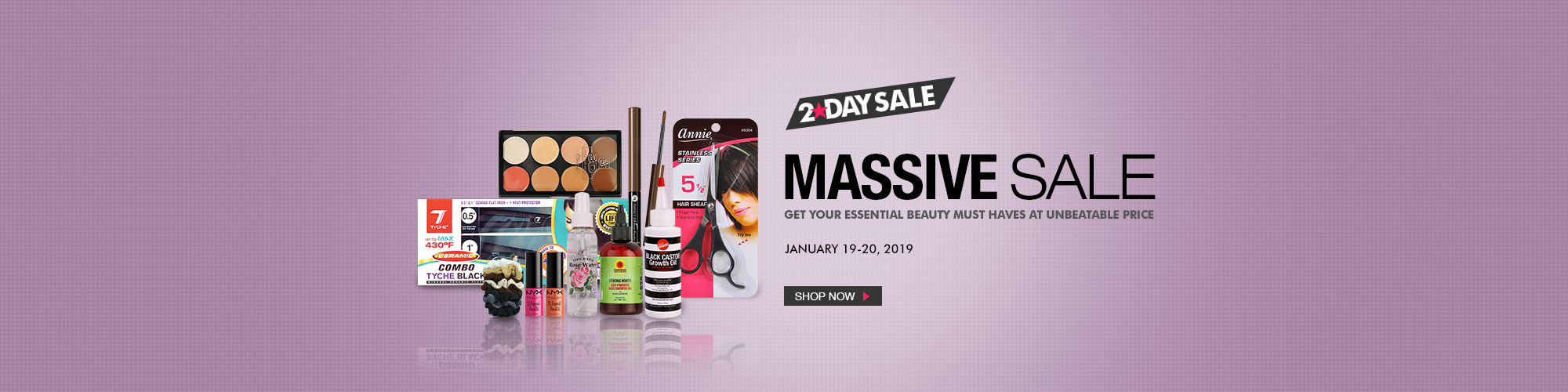 2-DAY MASSIVE SALE - BEAUTY ESSENTIALS