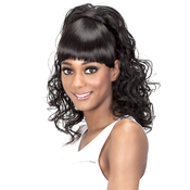 Vivica Fox Synthetic Hair Drawstring Ponytail Two In One Bang AMP; Pony BPFelicia