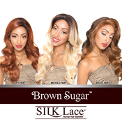 ISIS Human Hair Blend Lace Front Wig Brown Sugar Silk Lace BS608