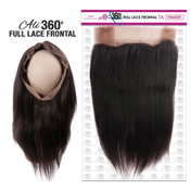 Ali Bundles Unprocessed 100 Virgin Human Hair Weave 360 Full Lace Frontal 7A Straight 16 22x4