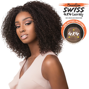 Sensationnel Unprocessed Brazilian Virgin Remy Human Hair Lace Front Wig Bare AMP; Natural 4X4 Swiss Lace Bohemian