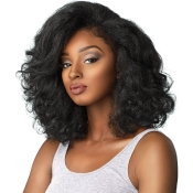 Sensationnel Synthetic Hair Half Wig Instant Weave Curls Kinks AMP; Co Boss Lady