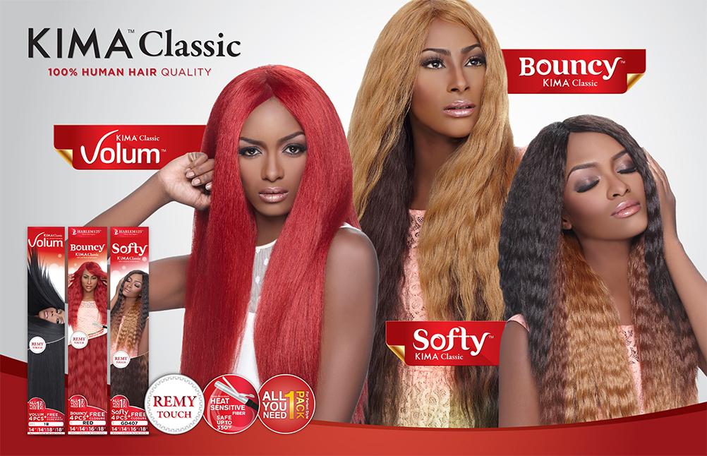 Harlem125 Human Hair Blend Weave Kima Classic Volum 4pcs Samsbeauty