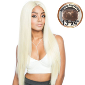 ISIS Human Hair Blend Lace Front Wig Melanin Queen 13X4 Frontal Lace MLF02