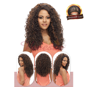Vanessa Brazilian Human Hair Blend Lace Front Wig Swiss Silk Lace HoneyC Side Part TCHB Albex