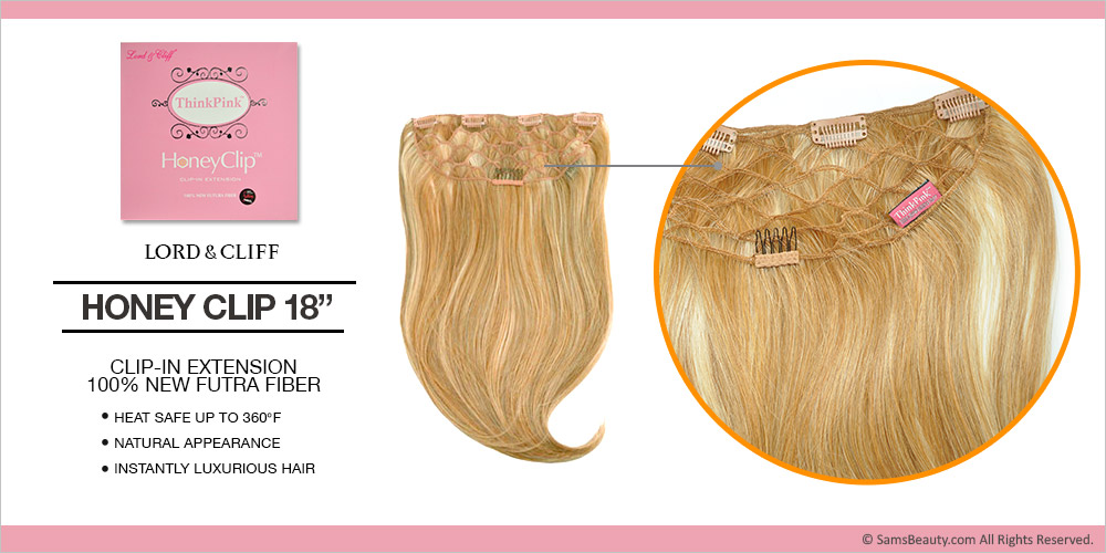 Lord Cliff Synthetic Hair Weave Clip In Extension Think Pink Honey