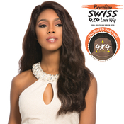 Sensationnel Unprocessed Brazilian Virgin Remy Human Hair Lace Front Wig Bare AMP; Natural 4X4 Swiss Lace Euro Body