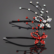 Soaring Rhinestone Butterfly Hair Pins