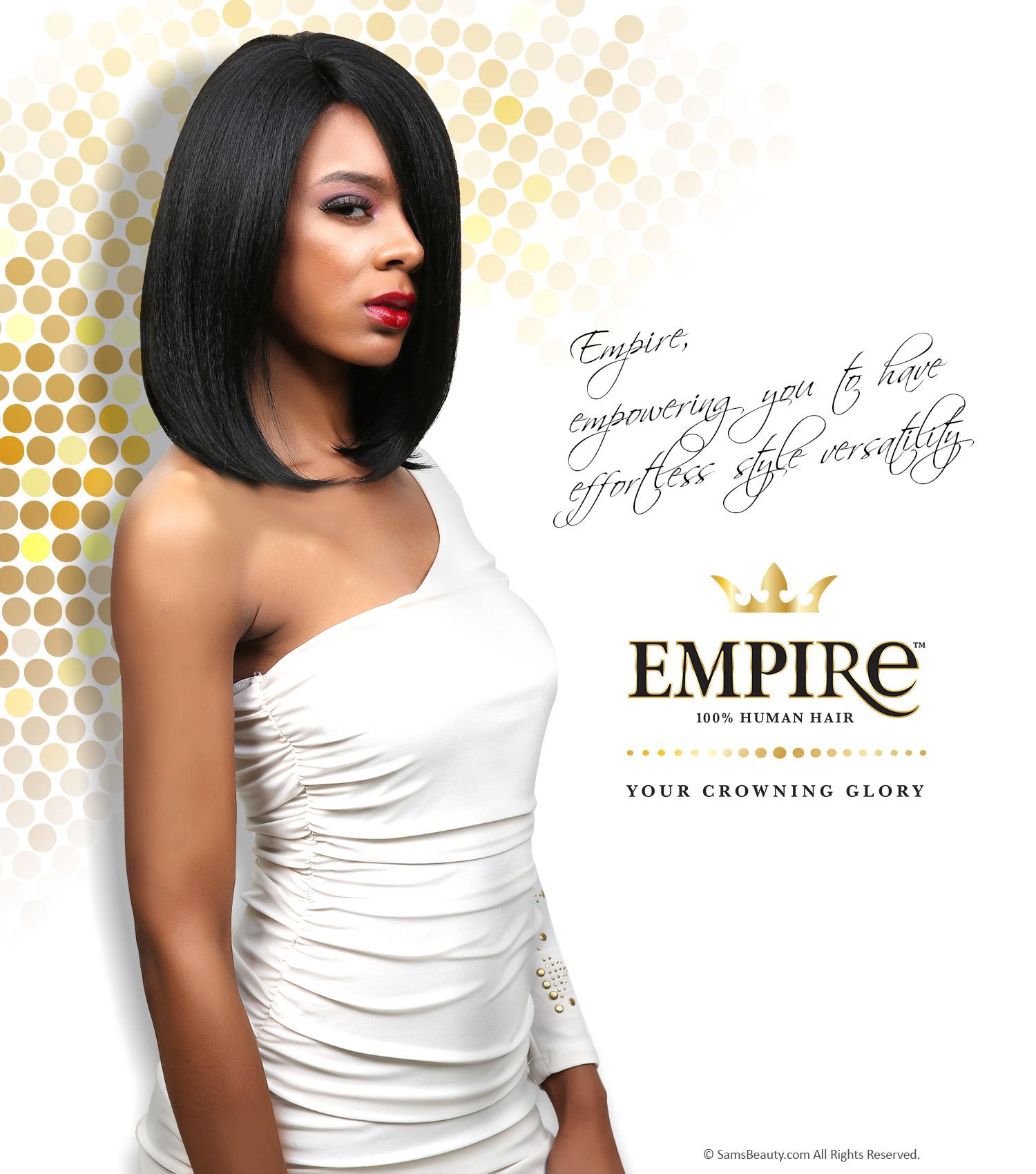 Sensationnel Human Hair Weave Empire Yaki Weaving Samsbeauty