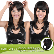 Harlem 125 Synthetic Hair Cilpon Top Bang Piece Crown Weave Side Part