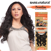 Sensationnel Unprocessed Brazilian Virgin Remy Human Hair Weave Bare AMP; Natural Natural Body 6Pcs  Free Closure