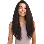 Janet Collection Natural Virgin Remy Human Hair Lace Front Wig 360 Lace French Wave 26