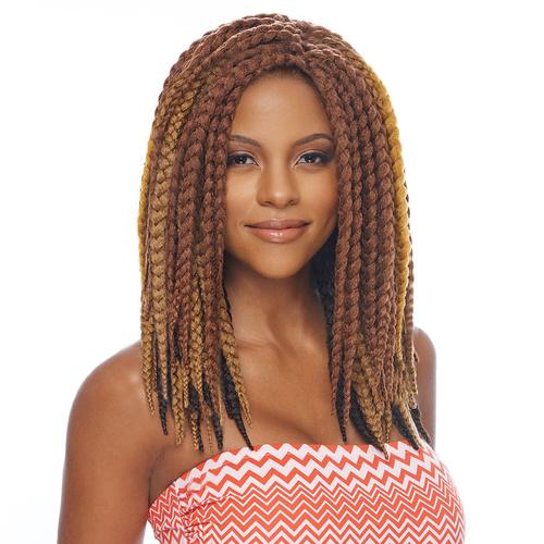 Crochet Jumbo Box Braids : Vanessa Synthetic Hair Crochet Braids Havana 3S Jumbo Box Braid 14