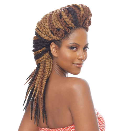 Vanessa Synthetic Hair Crochet Braids Havana 3S Jumbo Box Braid 14