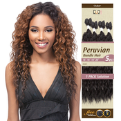 OUTRE Synthetic Hair Weave Batik Duo Peruvian Bundle Hair 5Pcs