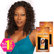 Say Me Human Hair Blend Weave Cuatro All in 1 Deep Wave 4pcs