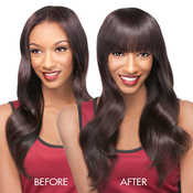 Outre Remy Human Hair ClipIn Bangs Velvet Sassy Bangs