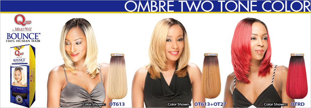 Milky way que human hair blend weave bounce two tone color express your exclusive style with milky way que bounce pmusecretfo Gallery