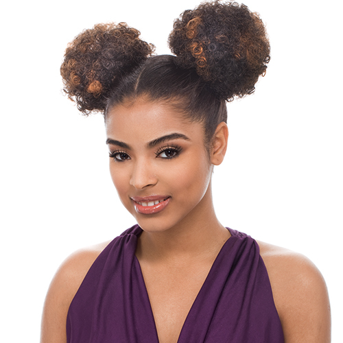 Pleasing Janet Collection Synthetic Hair Ponytail Noir Afro Puff 1 2Pcs Hairstyle Inspiration Daily Dogsangcom