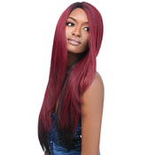 Outre Synthetic Lace front Wig L Part Natural Yaki 24
