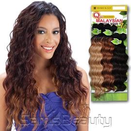 Milky Way Que Human Hair Blend Weave Malaysian Loose Wave 7pcs