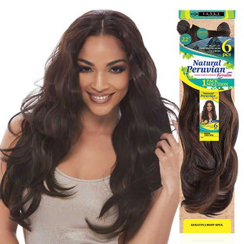 Janet collection synthetic hair weave noir natural peruvian hair color shown 1b30 pmusecretfo Choice Image