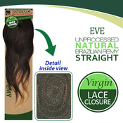 EVE Unprocessed Brazilian Virgin Remy Human Hair Weave Lace Closure Straight