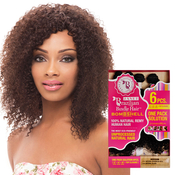 Janet Unprocessed Brazilian Virgin Remy Human Hair Weave Bombshell Natural Bohemian 6Pcs Free Top Closure