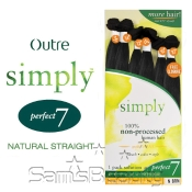 Outre Simply NonProcessed Brazilian Human Hair Weave Perfect 7 Natural Straight 7Pcs