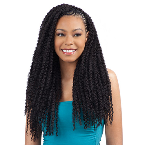 Crochet Box Braids Model Model : ModelModel Synthetic Hair Crochet Braids Glance Caribbean Twist 20 ...