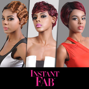 Instant Fab Remi Human Hair Wig Finger Wave FAB S4101
