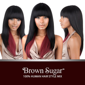 ISIS Human Hair Blend Wig Brown Sugar BS103