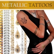 Hair and Body Metallic Temporary Tattoos