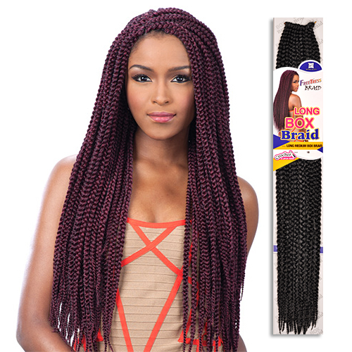 FreeTress Synthetic Hair Crochet Braids Long Medium Box Braid 24 ...