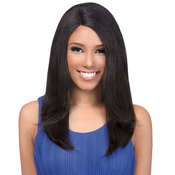 Outre Synthetic Lace front Wig L Part Natural Yaki 18