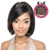 Trill Unprocessed Brazilian Virgin Remy Human Hair Lace Front Wig 4X4 Lace Bamboo 10