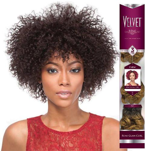 Human Hair Weave Kara Fusion Jerry Curl 12