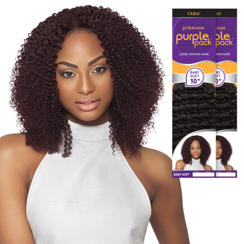 Outre Human Hair Weave Premium Purple Pack Baby Soft
