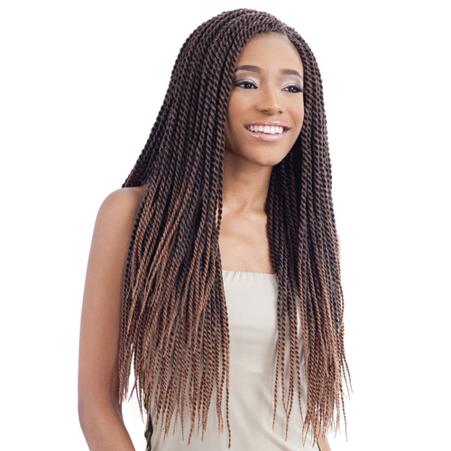 Small Crochet Hair Styles : ModelModel Synthetic Hair Crochet Braids Glance Senegalese Twist Small