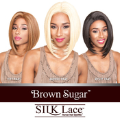 ISIS Human Hair Blend Lace Front Wig Brown Sugar Silk Lace BS609