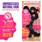 Janet Collection Unprocessed Brazilian Virgin Remy Human Hair Weave Bombshell Natural Weave 5Pcs 10A