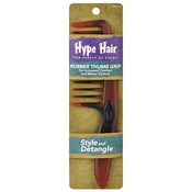 Hype Hair Large Tooth Comb with Rubber Thumb Grip