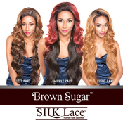 ISIS Human Hair Blend Lace Front Wig Brown Sugar Silk Lace BS610