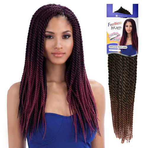 Crochet Senegalese Twist : Freetress Synthetic Hair Crochet Braids Senegalese Twist salon-hair ...