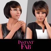 Instant Fab Remy Human Hair Wig Edgy Bob