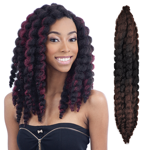 FreeTress Synthetic Hair Crochet Braids Bouncy Twist Out - SamsBeauty